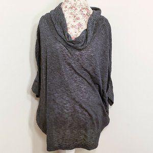 Old Navy Dark Gray Loose Fit Short Sleeve Pullover